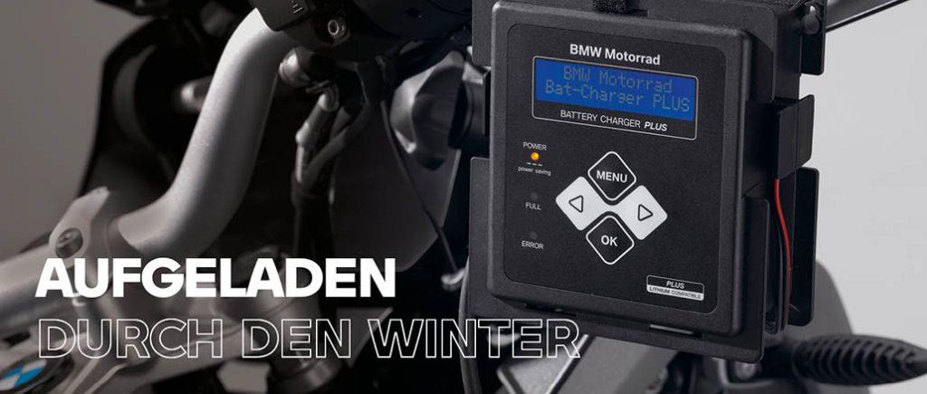 Aufgeladen durch den Winter - BMW Motorrad Batterieladegerät Plus